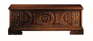Pitigliano ME.0812, Pecho Siena en madera de nogal tallado, para villas clásicas