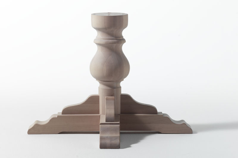 BASE, Base de la columna para la tabla de madera