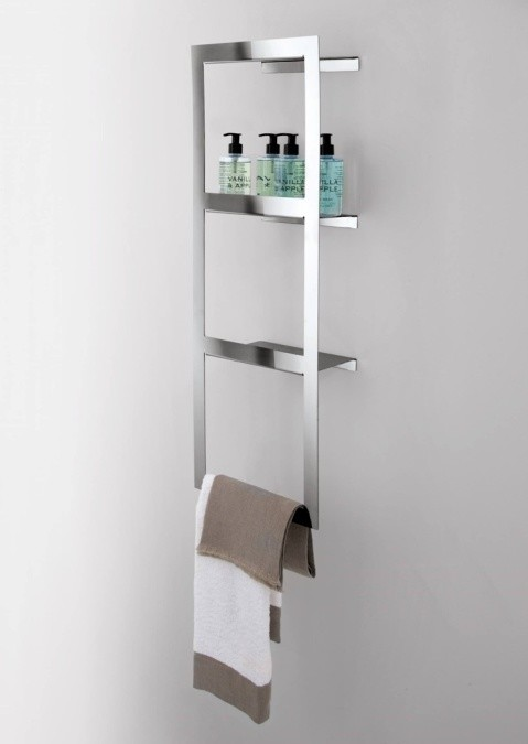 Estanter a de pared con el titular de la toalla para el for Portasalviette bagno design