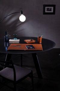 Aristotele 5pz, Accesorios de escritorio de cuero