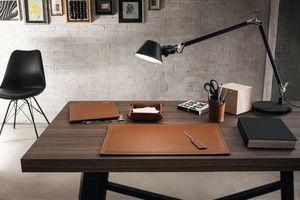 Ascanio 5pz, Accesorios de escritorio de cuero