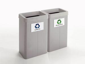 Maxi, Papeleras para el reciclaje, para tiendas y oficinas