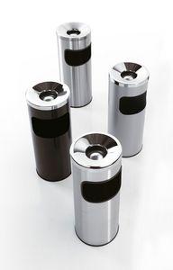 Serie 5a fire-resistant, Papeleras con cenicero, en acero, para la oficina y el bar