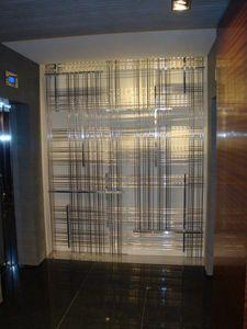 Divisores de sala a medida en latón, Muro divisorio de metal decorativo