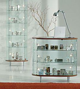 Top Line 3 203/OB, Display contador oval, base de espejo, para las tiendas