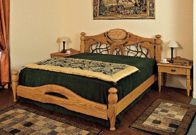 Collezione Castello, Equipamiento completo para la habitación del hotel, de estilo rústico, de madera de castaño masiva