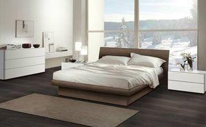 Dormitorio 13, Muebles para el dormitorio, cama de madera con un diseño contemporáneo