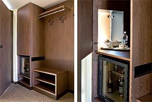Motel King, Equipamiento completo para la habitación del hotel, de estilo moderno