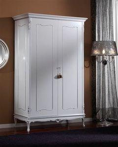 3615 ARMARIO, Armario con 2 puertas adecuadas para los dormitorios clásicos