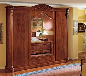 Althea armario, Armario cl�sico en madera de nogal con 4 puertas para el dormitorio