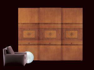 AR09 Floreale, Armario clásico con puertas correderas, iluminación interior