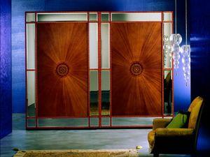 AR10 Arte armario, Armario cl�sico con cristal tallado, puertas correderas