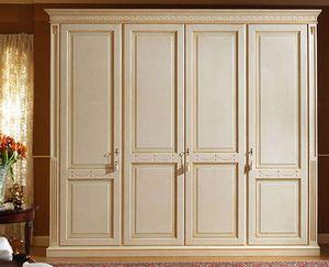 Aries armario, Armario lacado de lujo con 4 puertas, paneles de madera