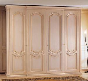 Art. 1170 Royal, Armario de madera, decorado, con 4 puertas, para el dormitorio