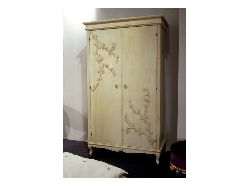 Art. 1602 Jasmine, Armario clásico con 2 puertas batientes, acabado de mantequilla
