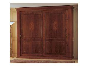 Art. 2004/279 '800 Francese Luigi Filippo, Armario de madera, una pieza clásica de muebles para el dormitorio