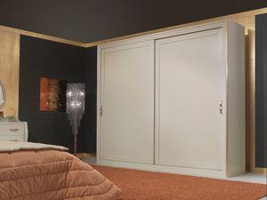 Art. 2010 Wardrobe, Armario de madera, de estilo clásico, con puertas correderas