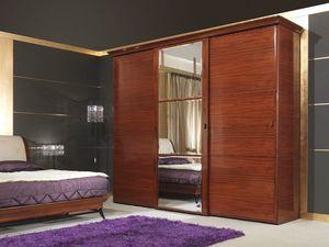 Art 509 Wardrobe, Armario clásico de lujo, en Rosewood, puertas correderas