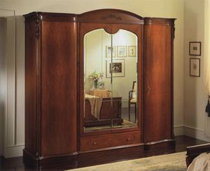 Canova 4 puertas de armarios con espejos, Armario con 4 puertas, el pecho interna de los cajones y espejos
