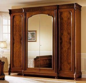 D'Este armario, Gabinete en madera de nogal, el lujo clásico, con espejo