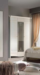 Diamante Art. 2120, Armario clásico con puerta de espejo.