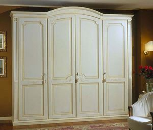 Elios armario, Armario en madera con estantes y cajones