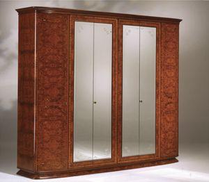 Flory armario, Ash olived armario con 6 puertas y espejos