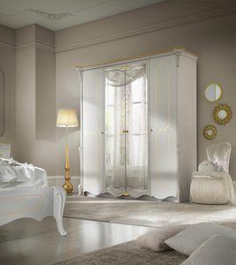 Giulietta Art. 3315 - 3415, Armario elegante lacado en blanco