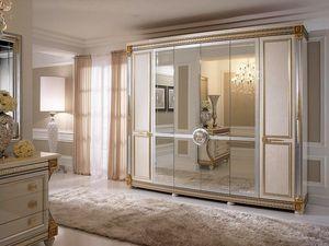 Liberty armario con 6 puertas, Armario de estilo cl�sico, con adornos hechos a mano, hechas en Italia