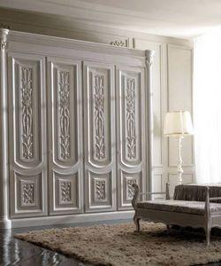 Luigi XVI Art. AR01/L/250, Armario de madera clara, para habitaciones de estilo clásico.