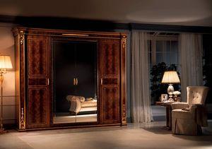 Modigliani armario de 4 puertas, Armario de estilo imperio