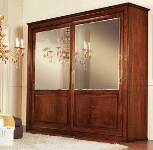 Olympia Armario 2 puertas, Armario con puertas de espejo, el dorso de diamante