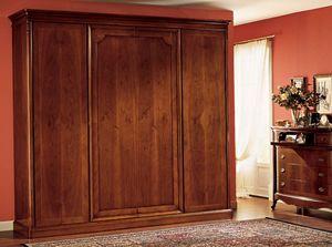 Opera armario puerta de madera, Armario con 4 puertas, en paneles de madera
