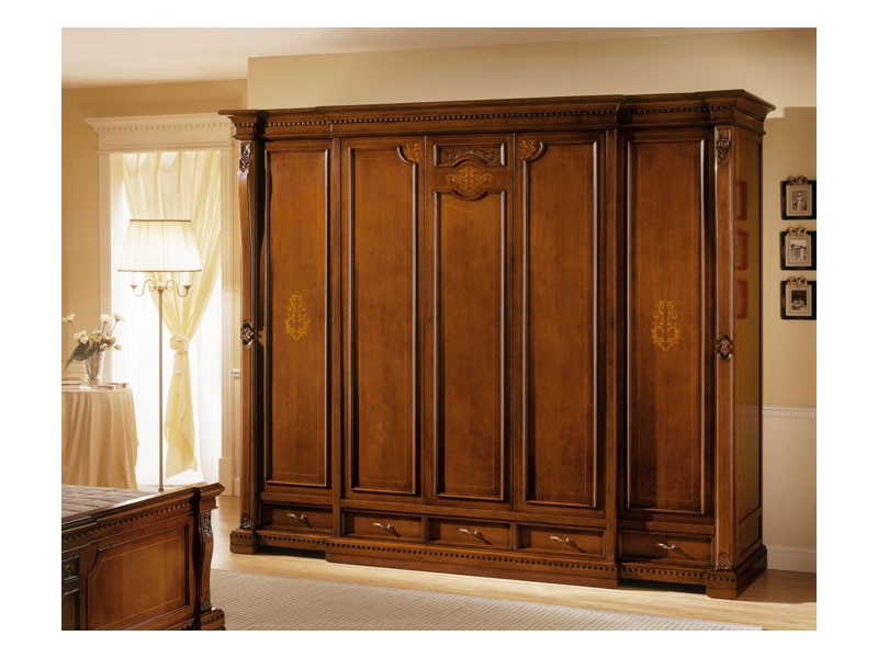 REGINA NOCE / Wardrobe 5 doors, Armario de lujo con 5 puertas, para villas clásicos