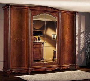 Roma gabinete con puertas curvas, Cabina de madera con puertas curvas, con estilo cl�sico de lujo