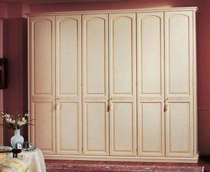 Sirio armario, Armario en paneles de madera, 6 puertas, de hoteles de lujo