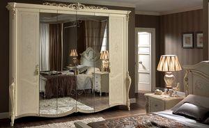 Tiziano armario, Armario cl�sico 6 puertas, con espejo, ideal para dormitorios de lujo