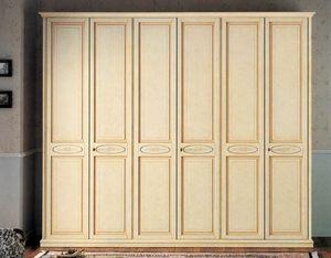Vega armario, armario lacado clásico de lujo con 6 puertas