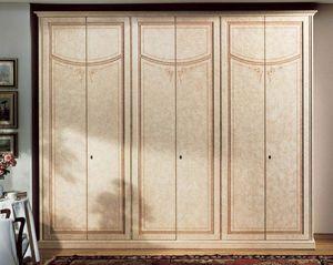 Vesta armario, Armario de lujo en madera lacada con 6 puertas