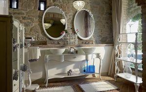 Carpi Muebles de baño, Muebles de baño de estilo clásico, con dos lavabos