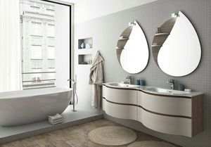 COMPONIBILE 8, Mueble bajo lavabo doble suspendido con cajones