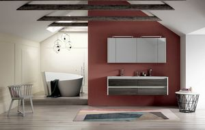 Dress 2.0 comp.07, Mueble de baño con doble lavabo