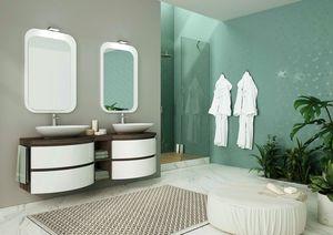 FREEDOM 06, Mueble bajo lavabo doble lacado en melamina.
