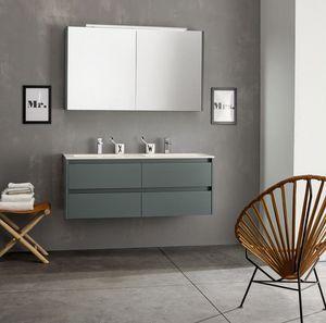 Kami comp.06, Composición modular del baño con doble lavabo