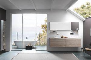 Lime 1.0 comp.26, Muebles de baño con dos lavabos redondos