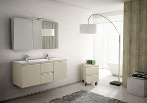 Mistral comp.05, Muebles de ba�o para parejas, con doble lavabo