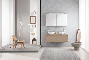 Summit 2.0 comp.11, Mueble de baño con lavabo doble en la encimera