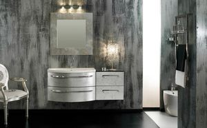 Glamour Argento AM44, Elegante mueble de ba�o, acabado plateado