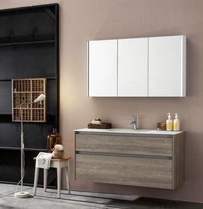 Kami comp.05, Mueble de baño modular con espejo