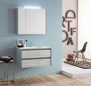 Kami comp.07, Mueble de baño modular y que ahorra espacio